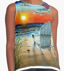 Beach Sunset Contrast Tank