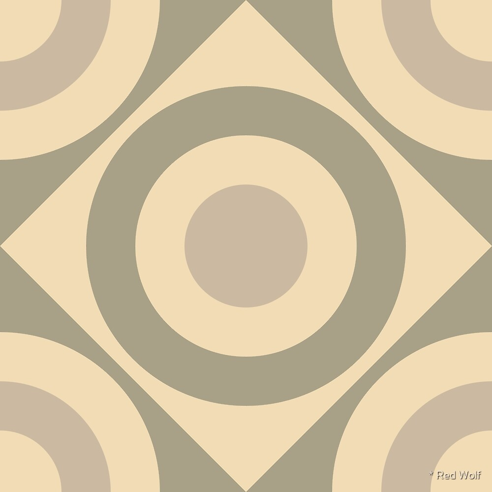 Geometric Pattern: Rondel Diamond: Parchment by * Red Wolf