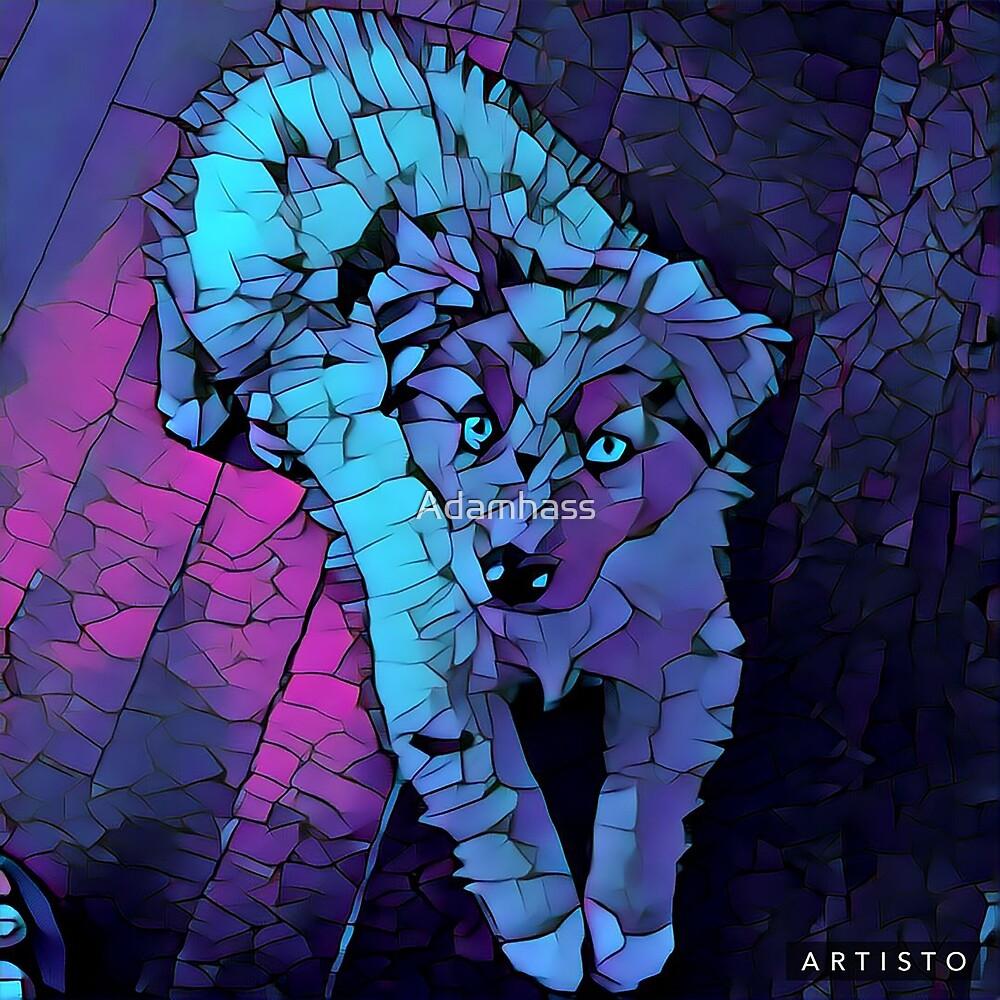 Mosaic Crystal Dog by Adamhass