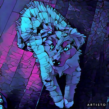 Mosaic Crystal Dog by Adamhass