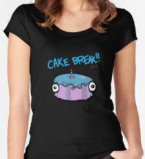 CAKE BREAK (down) Women's Fitted Scoop T-Shirt