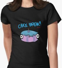 CAKE BREAK (down) Womens Fitted T-Shirt