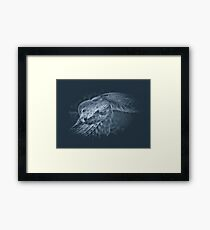Glowing Scales Framed Print
