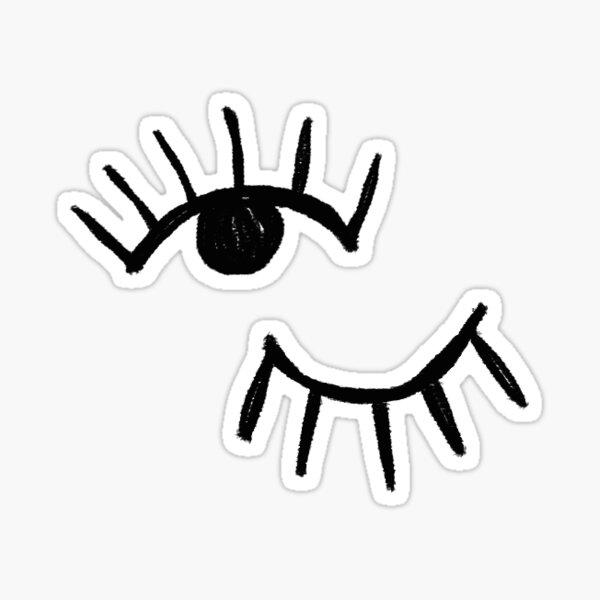 Handrawn Minimalist Eyes | Trendy/Hipster/Tumblr Meme Sticker