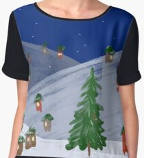 Winter Town by VIXTOPHER Chiffon Top
