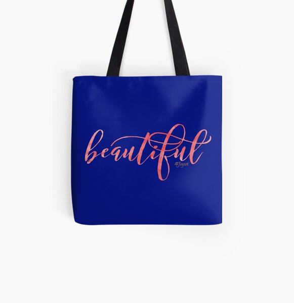Just Beautiful All Over Print Tote Bag