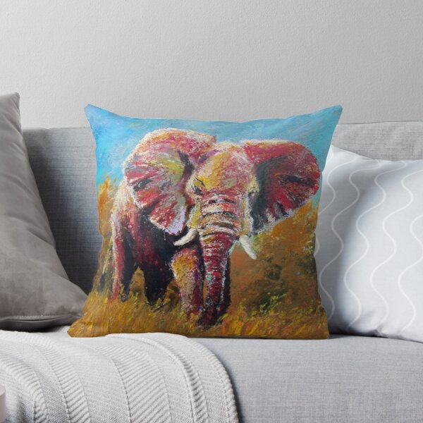 Marching Through the Tall Grass by Thomas Andrew Throw Pillow