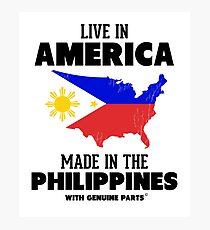 Leben in Amerika, Made in the Philippines Fotodruck