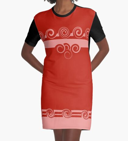 Swirl It Happy Graphic T-Shirt Dress