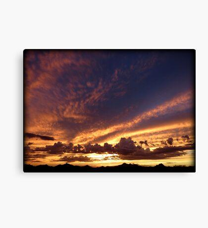 Soft Summer Sunset Canvas Print
