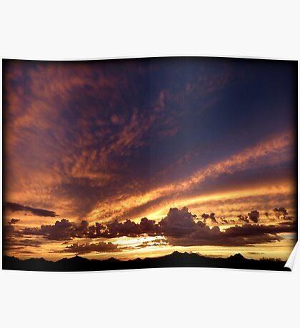 Soft Summer Sunset Poster