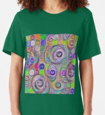 Space snowballs #DeepDreamed Slim Fit T-Shirt