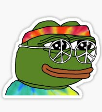 Peace Pepe Sticker