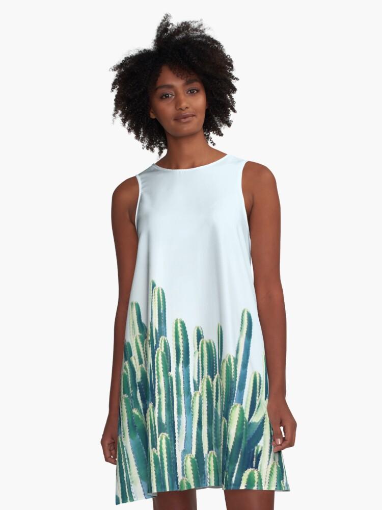 Cactus V2 #redbubble #home #lifestyle #buyart #decor A-Line Dress Front