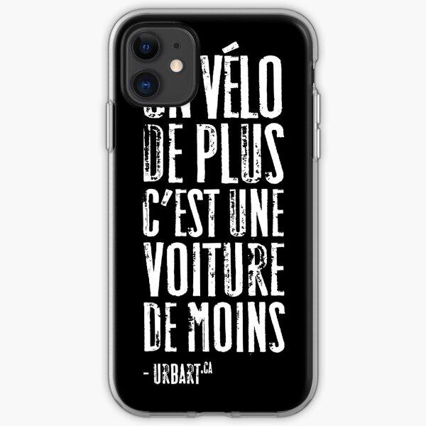 UrbArt® - Un vélo de plus c est une voiture de moins Coque souple iPhone