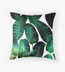 Cosmic Banana Leaves #redbubble #lifestyle Throw Pillow