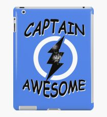 CAPTAIN AWESOME TSHIRT Funny Humor TEE COMIC VINTAGE New LIGHTNING VTG 80s Cool iPad Case/Skin