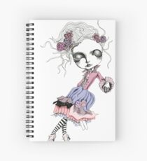 She is falling  Spiral Notebook