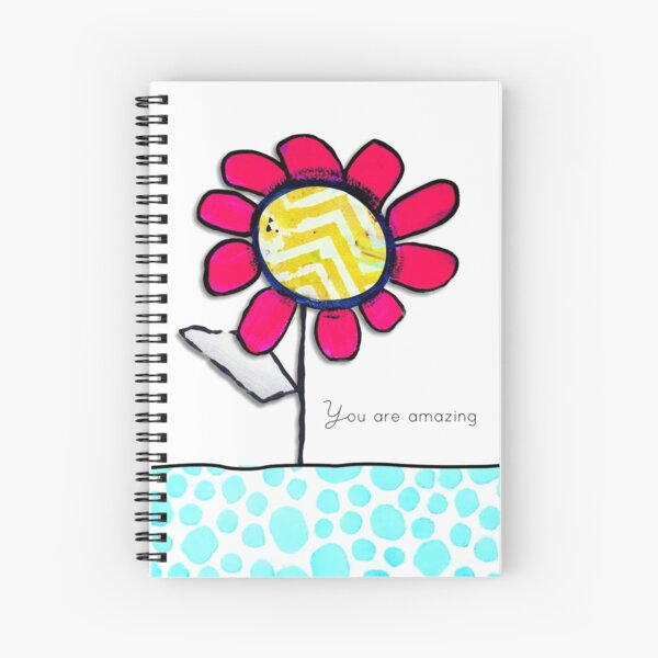 """""""You Are Amazing"""" Original design by PhillipaheART Spiral Notebook"""
