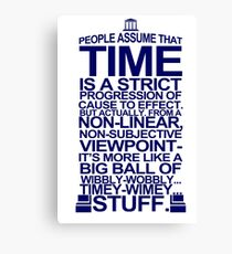 DOCTOR WHO TYPOGRAPHY T Shirt Doc Dr BBC Tardis Time Dalek New Tenth Timey Wimey Canvas Print