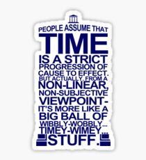 DOCTOR WHO TYPOGRAPHY T Shirt Doc Dr BBC Tardis Time Dalek New Tenth Timey Wimey Sticker