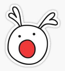 Rudolf Red nose Reindeer Sticker