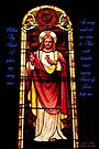 Sacred Heart Of Jesus - Stain Glass by Larry Costales