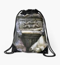Marble Sea-horses - Fountain of Neptune, Florence Drawstring Bag