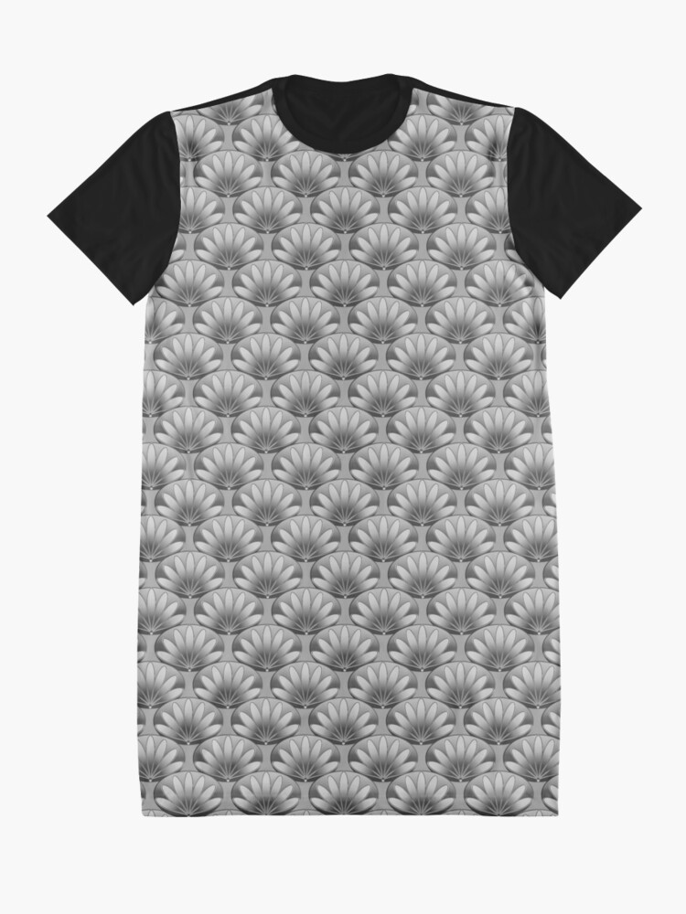 Alternate view of Fan Floral Pattern Graphic T-Shirt Dress