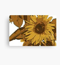 Sunflower cartoon Canvas Print
