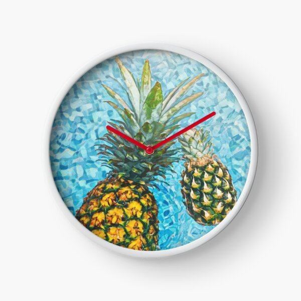 Be a Pineapple #redbubble #lifestyle Clock