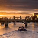 Heading into the sun, London, England by Cliff Williams