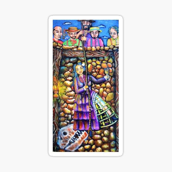 Lola Montez Down The Gold Mine Sticker