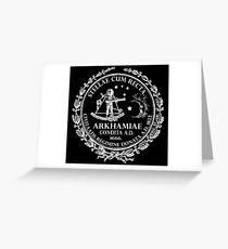 Arkham City Seal Greeting Card