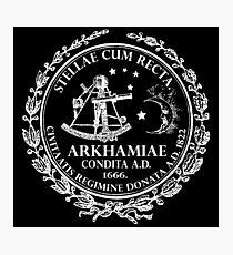 Arkham City Seal Photographic Print