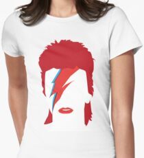 Bowie Faceless Womens Fitted T-Shirt