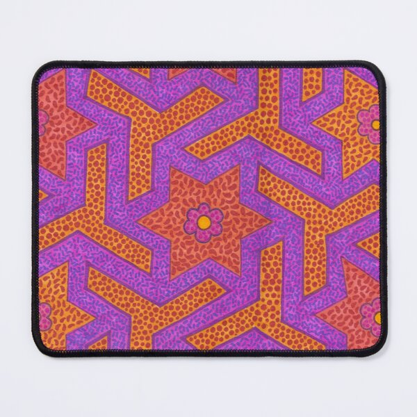 Tiles in orange and purples Mouse Pad
