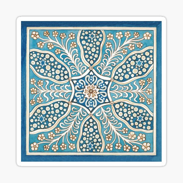 A six pointed star tile Sticker