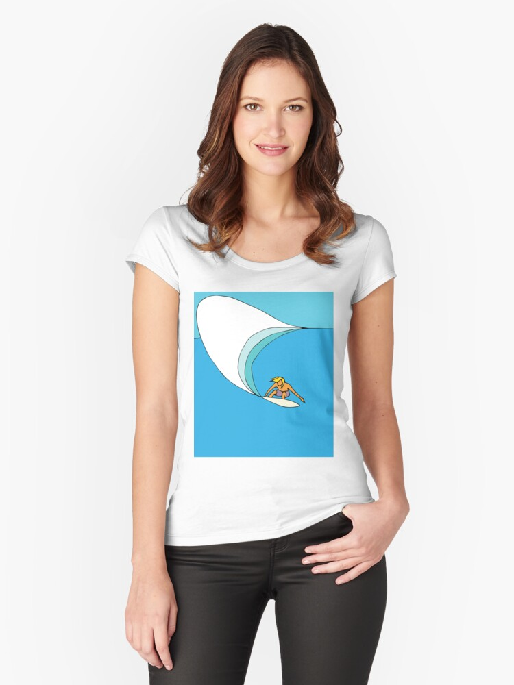 Put it on a rail... Women's Fitted Scoop T-Shirt Front