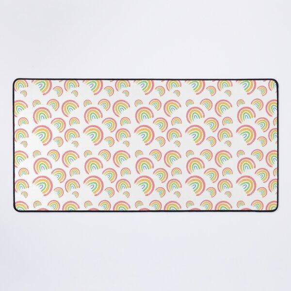 Rainbow Pattern Desk Mat
