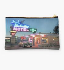 Historic Rt. 66 Blue Swallow Motel Studio Pouch