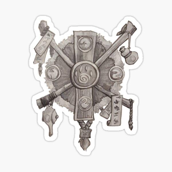 Monk crest Sticker