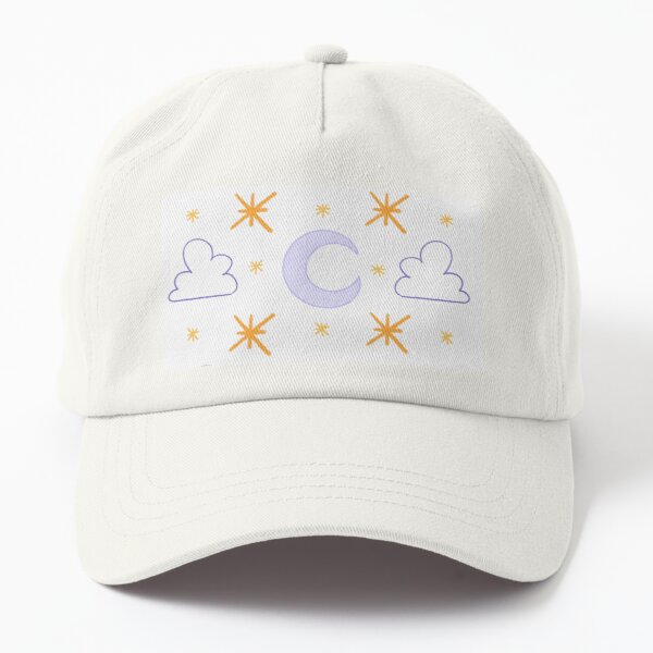 Moon and Star Pattern Dad Hat
