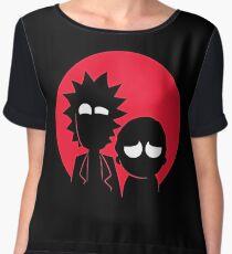 Rick and Morty Chiffon Top