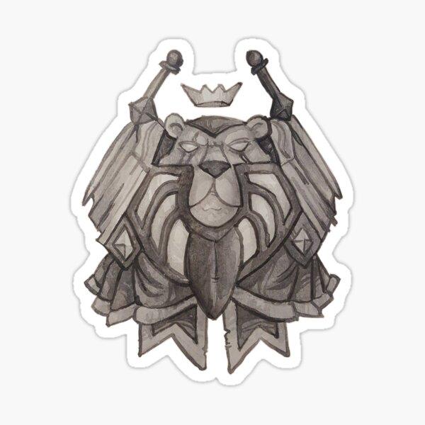 Paladin crest Sticker