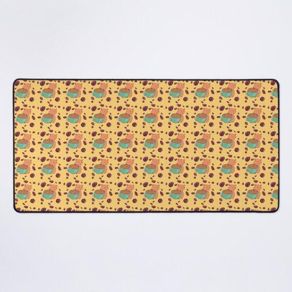 Coffee Guinea Pig Pattern Desk Mat