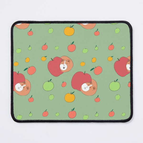 Guinea Pig Apple Pattern Mouse Pad