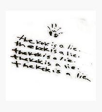 The kek is a lie Photographic Print