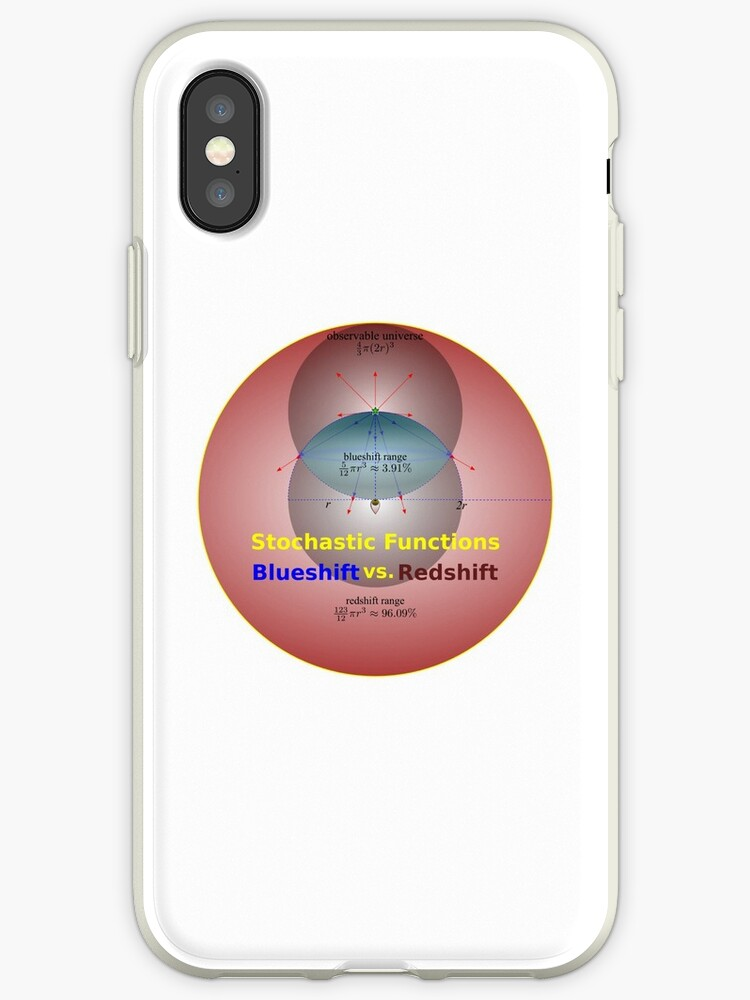 'Science - Redshift vs  Blueshift' iPhone Case by Yodad