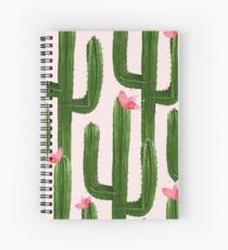Happy Cacti #redbubble #lifestyle Spiral Notebook